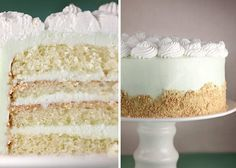 Key Lime Cream Cake by Bakerella. It makes too much frosting! It tastes great, but have enough for a second cake!!