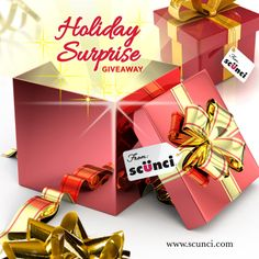 Now through December 13, 2013, enter the scünci® Holiday Surprise Giveaway for your chance to win one of 10 festive gift boxes filled with an assortment of the latest scünci® hair accessories.