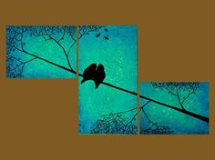 Blue Bird Painting Canvases Oil On Canvas 38 Ideas Creation Art, Wow Art, Art Plastique, Painting & Drawing, Knife Painting, Painting Inspiration, Landscape Paintings, Modern Paintings, Zentangle