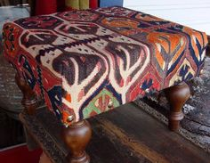 I have a large ottoman I want to recover with kilim fabric kilim Ottoman, Sofa Upholstery, Room Accessories, Green Ottoman, Kilim Ottoman, Furniture Accessories, Killim, Large Ottoman, Pouf Ottoman