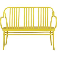 Sonny Bench S13 by Crate & Barrel #yellow #jaune #amarillo