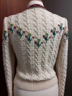 Ravelry: Tyrolean Cardigan pattern by Anni Howard Cardigan Pattern, Knit Cardigan, 1940s Fashion, Vintage Fashion, Vintage Dresses, Vintage Outfits, Vintage Knitting, Knitwear, Knit Crochet