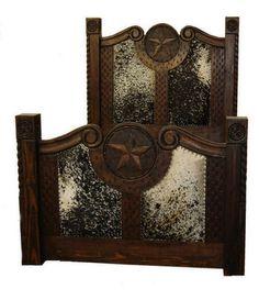 details about rustic dark stain cowhide prieta grande bed king or queen cabin lodge western western furniturerustic furniturebedroom - Rustic Western Bedroom Furniture