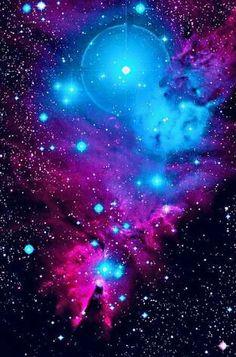 Imensidão do universo -   Stars ~ estrelas ~ space ~ espaço ~ galaxy ~ galáxia - blue & pink ~azul e rosa