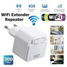 Signal Amplifier Wifi Extender Wireless WiFi Repeater AP Router Range Extender Booster Wifi Signal Amplifier With EU EU Plug Wireless Router, Wifi Router, Wi Fi, Wifi Extender, Usb, Electronic Devices, Goods And Service Tax, Plugs, Range