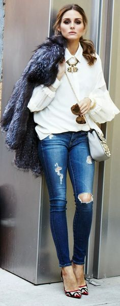 Vogue Olivia Palermo Looks by Personal Style - Style // Fashion // Beautiful People