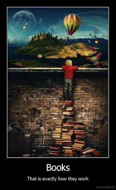 Books ... This is exactly how they work... #books #reading #literature