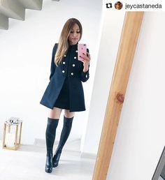 Para acompañar tus vestidos en los días fríos lo mejor es llevar unas botas Over The Knee que encuentras en las tiendas de #xtisantorini  Outfit de @jeycastaneda Shirt Dress, Lifestyle, Jackets, Shirts, Outfits, Dresses, Fashion, Vestidos, Outfit