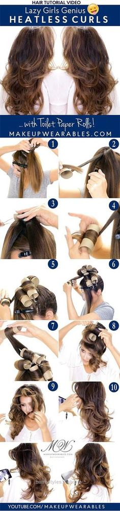 Splendid no heat curls; overnight curly hair The post no heat curls; overnight curly hair… appeared first on Haircuts and Hairstyles .