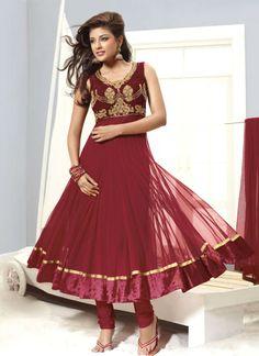 #Maroon Trendy Look #Salwar Kameez   Check out this page now :-http://www.ethnicwholesaler.com/salwar-kameez