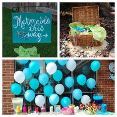 Mermaid birthday party picnic basket treasure chest