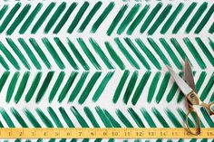 Brushed Chevron Fabric by Itsy Belle Studio at minted.com