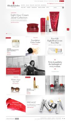 Elizabeth Arden by Joanna Noh, via Behance