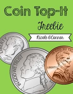 FREE Coin Top-It Game (dimes, nickels, and pennies) Money Activities, Money Games, Learning Money, Teaching Math, Kindergarten Math, Teaching Resources, Preschool, Second Grade Math, Grade 1