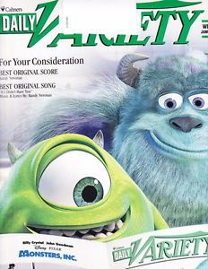 Daily Variety 2002 Monsters Inc Harry Potter John Williams Disney Pixar
