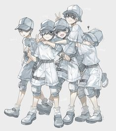 Hataraku Saibou (Cells at Work! Manga Anime, Me Anime, Anime Kawaii, I Love Anime, Anime Chibi, Anime Art, Haikyuu, Tamako Love Story, Anime Lindo