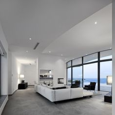 Moderne Architektur Wohnzimmer Curved Wall Architecture Framing Outstanding  Views Modern House Moderne Architektur Wohnzimmer