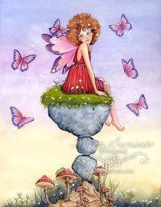 Marta Sarmiento - Lámina impresa A4 - Charlando con las mariposas