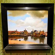 Painting 'View of Delft' Museum Mauritshuis Den Haag. #painting #viewofdelft #gezichtopdelft #johannesvermeer #dutchpainter #collectie #mauritshuis