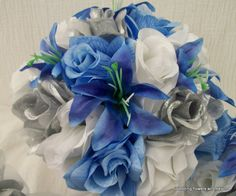 MaDe To oRDeR FLoWeR PaCKaGe Light BLue by VanCaronCollection