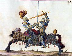 A Knightly Duel. Hans Talhoffer, 1478