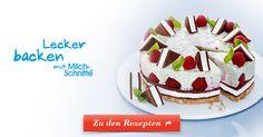 Ganz ohne Backofen: leckere Himbeer-Creme und kühle Milch-Schnitte® auf einem knusprigen Keksboden. Jetzt entdecken!