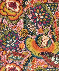 Liberty Art Fabrics Patricia Cotton Velvet in Velvet Spice. Fabric for the window seat? Textile Patterns, Textile Design, Fabric Design, Liberty Art Fabrics, Liberty Print, Retro Pattern, Pattern Art, Motif Floral, Floral Prints