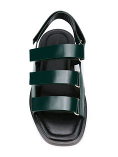 Shop Jil Sander strappy flat sandals  in O' from the world's best independent boutiques at farfetch.com. Shop 400 boutiques at one address.