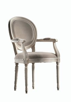 The Louis XV Armchair comes in a raw oak construction. The finishes are customizable and range from lacquer to virtually wood wood stain available. The upholstered material is virtually limitless as w