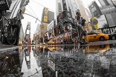 Times Square reflection by Saul Aguilar on 500px