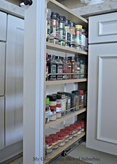 Pull Out Spice Rack, must have for my next kitchen!