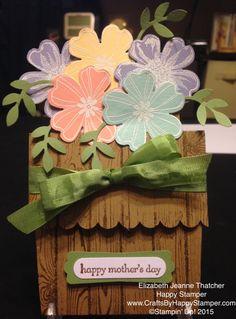 Stampin up flower shop stamp set flower pot happy mothers day card