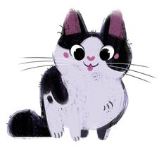 Kitten Sketch by Heather Nasheim Cat Doodle, Animal Gato, Warrior Cats, Cat Drawing, Animal Drawings, Cat Art, Anime Manga, Illustration Art, Cat Illustrations