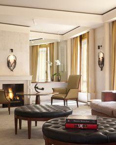 Park Hyatt #Paris #Vendome, #Tufted #Ottoman http://VIPsAccess.com/luxury-hotels-paris.html