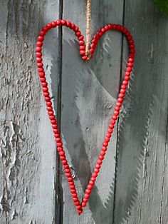 Red beaded heart...