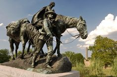 Pioneer Mother Memorial (located in Kansas City's Penn Valley Park) - was dedicated in 1927, to reflect the spirit of all pioneer mothers.  It is located near the points where the Santa Fe trail and Oregon Trails originated.  Its subject is also worthy of a memorial, as many of the brave women who embarked on such journeys endured considerable hardship.