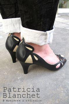 Patricia Blanchet escarpin Findouce noir #patriciablanchet #escarpin #pumps #findouce #noir #black #beige #chaussures #shoes #itshoes #ss15 #fashion #madeinspain #graphique #graphic