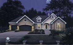 Ranch Plan: 2,452 Square Feet, 3 Bedrooms, 2.5 Bathrooms - 5633-00032