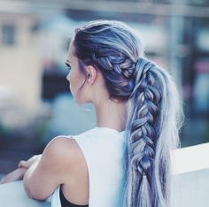 71 most popular ideas for blonde ombre hair color - Hairstyles Trends Pastel Hair, Ombre Hair, Pretty Hairstyles, Braided Hairstyles, Crazy Hairstyles, Braided Ponytail, Teenage Hairstyles, Edgy Updo, Hairstyle Ideas