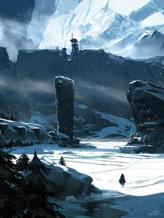 """Sparth - Nicolas Bouvier Concept art environment Game of Thrones tribute - """"The wall"""""""