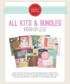 We're having a kit & bundle blowout sale! All are reduced to $19.99 and less!