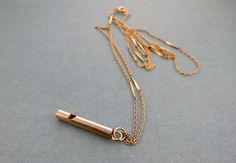 Stock is getting low on these beauties! Grab up the last few! Brass Whistle Necklace