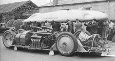 Railton Mobil Special with Twin Napier Lion W-12 aero engines