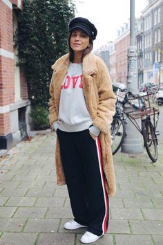 Coat - Ganni / Pants - Zara / Sweater - Rika / Sneakers - Adidas Stan Smith / Hat - HM
