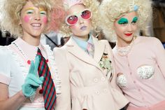 Meadham Kirchhoff crazy cute and colorful japanese inspired fashion with doll make-up and big hair :)