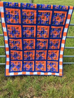 Florida Gators Quilt by NeNesQuilts on Etsy