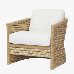 Our Capitola Rattan Lounge Chair from Palecek will add an relax vibe to any dining space. Featuring a pole rattan frame and textural arms and back.