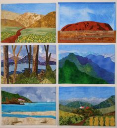 How To Create A Landscape Quilts | HOW TO CREATE A REALISTIC LANDSCAPE QUILT