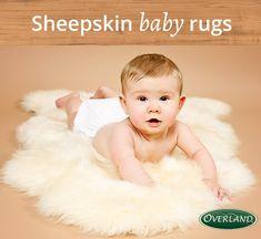 Sheepskin naturally wicks moisture away so baby stays happier