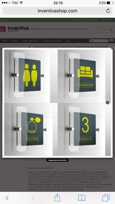 Segnaletica ufficio:  www.inventivashop.com Lockers, Locker Storage, Boutique, Signs, Room, Decor, Bedroom, Decoration, Shop Signs